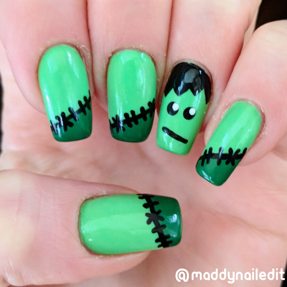 Nail Art: Frankenstein – Maddy Nailed It