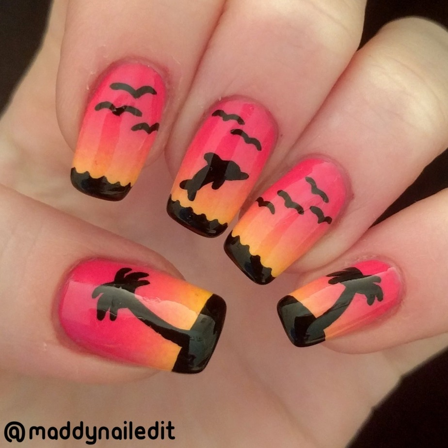 Nail Art: Tropical Sunset – Maddy Nailed It